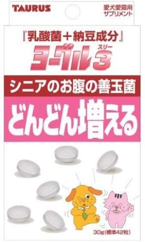 Комплекс с молочнокислыми бактериями для пожилых питомцев Taurus Lactic Acid Bacteria + Natto Ingredients Yogurt 3