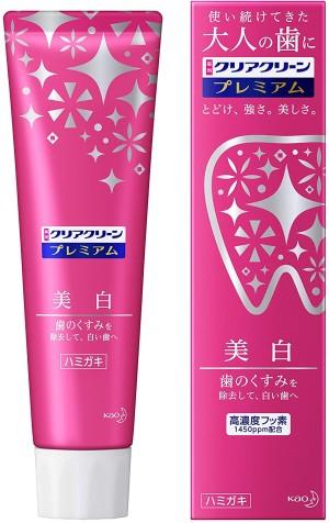 Отбеливающая и освежающая зубная паста Kao Clear Clean Premium Whitening (Medicated Toothpaste)
