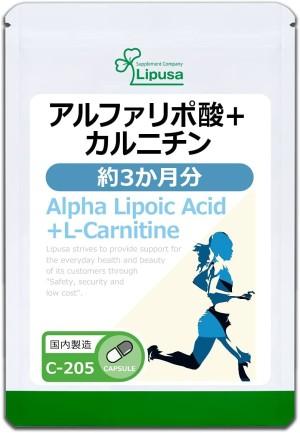 Комплекс с альфа-липоевой кислотой и L-карнитином Lipusa α-lipoic acid + L-carnitine
