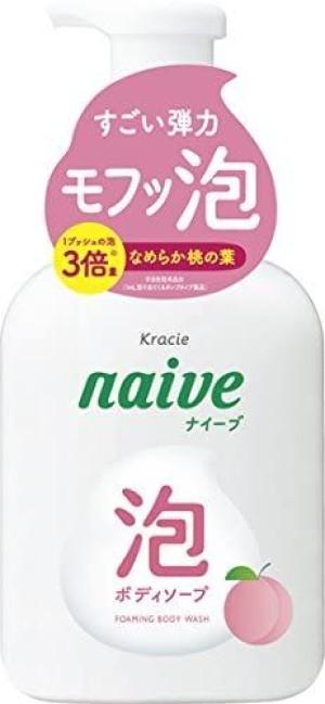 Увлажняющее мыло для рук с экстрактом персика Kracie Naive Medicated Hand Soap