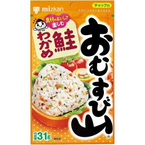 Натуральная приправа к рису Mizkan Omusubiyama с лососем и морскими водорослями