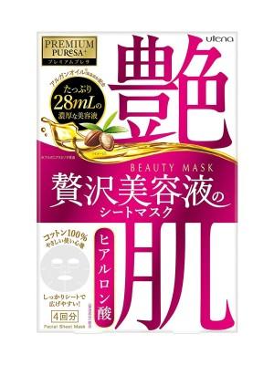 Увлажняющая маска с гиалуроновой кислотой Utena Premium Puresa Beauty Mask Hyaluronic Acid