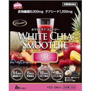 Фруктовый смузи с семенами чиа и бифидобактериями Meiji White Chia Smoothie Red Mix