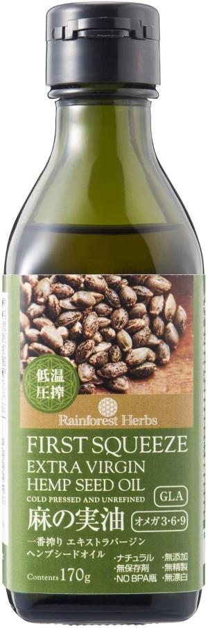 Конопляное масло холодного отжима ECO Friendly Food First Squeeze Extra Virgin Hemp Seed Oil (Cold Pressed and Unrefined)