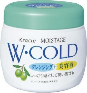 Очищающий и увлажняющий массажный крем для лица Kracie Moistage Cold Cream
