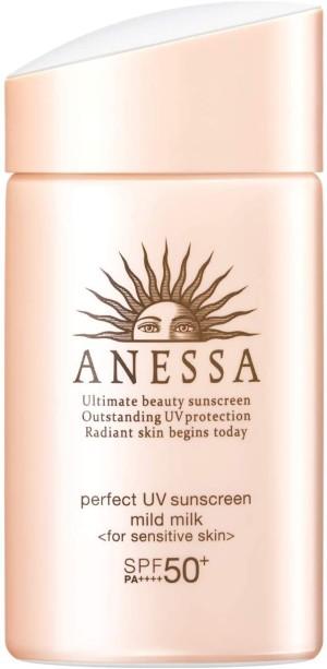 Солнцезащитное молочко для детей и взрослых Shiseido Anessa Perfect UV Mild Milk 50+/PA++++