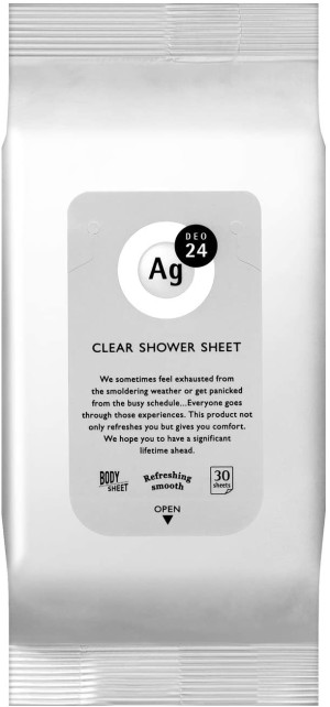 Дезодорирующие салфетки Shiseido Clear Shower Sheet AG 24