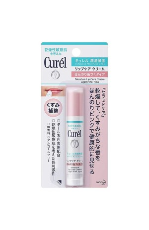 Бальзам для губ Kao Curel Moisture Lip Care Cream Light Pink Type