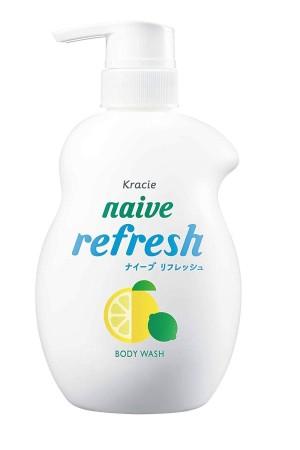 Освежающий гель для душа Kracie Naive Refresh Body Wash