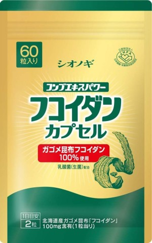 Фукоидан ламинарии и молочнокислые бактерии Shionogi Healthcare Fucoidan Kelp Lactic Acid Bacteria