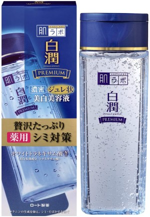 Многофункциональное отбеливающее желе Rohto Hada Labo Shirojyun Premium Whitening Medicated Jelly Essence