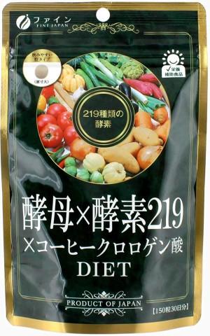 Комплекс против лишнего веса Fine Japan Yeast x Enzyme 219 × Coffeechlorogen Acid Diet Grain Type