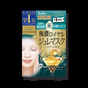 Интенсивно увлажняющая маска с церамидами и маточным молочком Kose Clear Turn Premium Royal Jelly Mask Rice