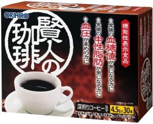 Быстрорастворимый кофейный напиток при повышенном сахаре и гипертонии Orihiro Sage's Coffee Isomalt Dextrin GABA