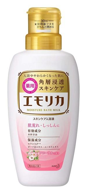 Молочко для купания Kao Emorika Medicated Skin Care Bath Liquid