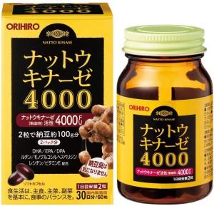 Комплекс с наттокиназой для сердечно-сосудистой системы Orihiro Nattokinase 4000