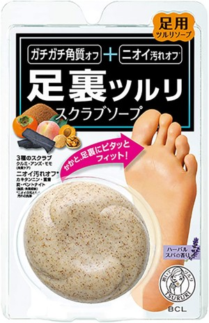 Мыло-скраб для ступней BCL Tsururi Smooth Sole Polishing Scrub Soap