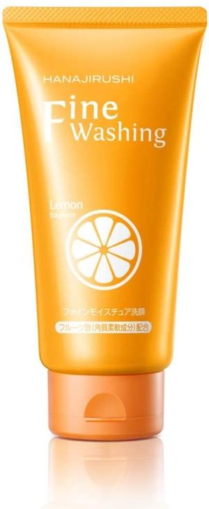 Очищающая пенка для осветления пигментных пятен HANAJIRUSHI Fine Washing Lemon