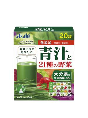 ASAHI Аодзиру зеленый сок ячменя + 21 вид овощей