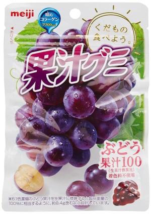 Желейные конфеты с коллагеном Meiji Fruit juice Gumi со вкусом винограда