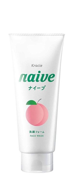 Очищающая пенка для лица с экстрактом листьев персика Kracie Naive Facial Cleansing Foam
