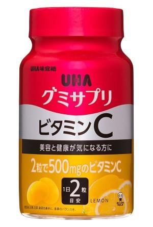 Жевательный витаминный комплекс UHA с витамином С