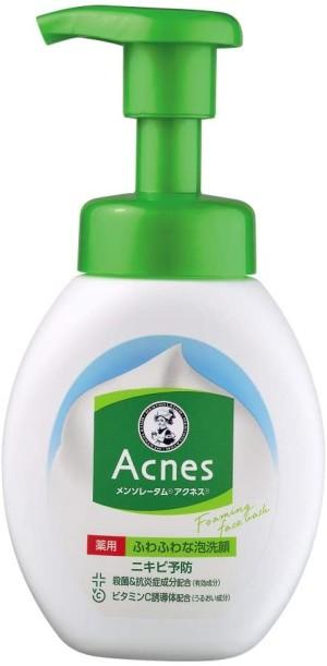 Лечебная пенка для умывания против акне Rohto Mentholatum Acnes Medicinal Fluffy Facial Cleanser