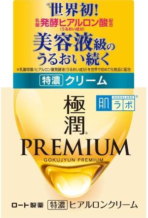 Интенсивно увлажняющий крем с гиалуроном Rohto Hada Labo Gokujyun Premium Super Hyalurone Cream