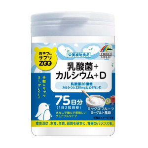 Жевательный Кальций + витамин D и молочнокислые бактерии ZOO Unimat Riken на 75 дней со вкусом фруктов и йогурта