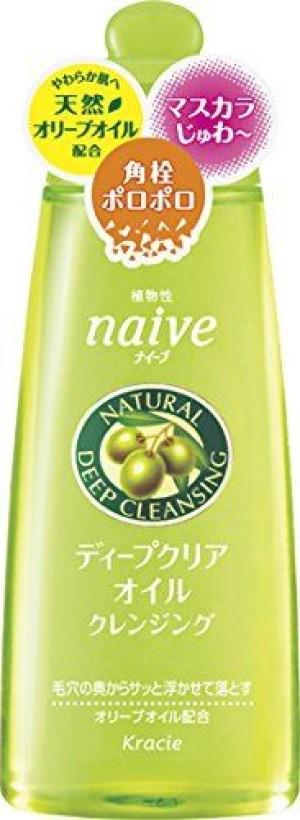 Увлажняющее гидрофильное масло с маслом макадами Kracie Naive Deep Clear Oil Cleansing