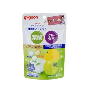 Жевательные таблетки с фолиевой кислотой, железом и рибофлавином Pigeon Folic Acid+В2