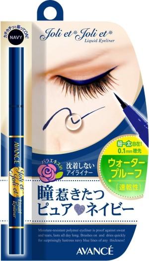 Синяя жидкая подводка - карандаш AVANCE Joli et Joli et Liquid Eyeliner