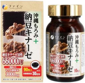 Черный уксус мороми + наттокиназа Fine Okinawa Moromi + Nattokinase 66000FU
