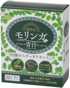 Комплекс для детокса с хлореллой, морингой и пребиотиками Pure Field Moringa Aojiru