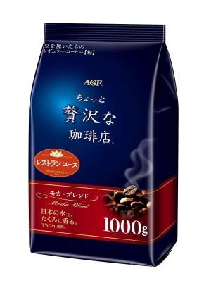 Японский кофе в зернах грубого помола AGF Mocha Blend с фруктовым ароматом