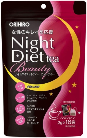 Диетический чай для похудения ночью Orihiro Night Diet Tea Beauty