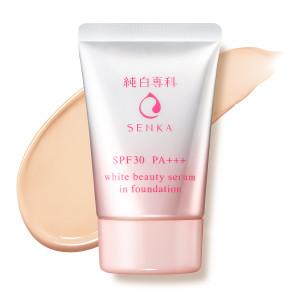 Тональный крем с солнцезащитным эффектом Shiseido Hada-Senka White Beauty Serum In Foundation SPF30 / PA +++