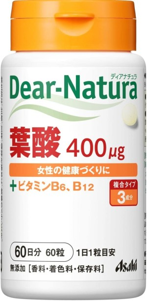 Мультивитаминный комплекс с фолиевой кислотой Asahi Dear-Natura  Style Folic Acid