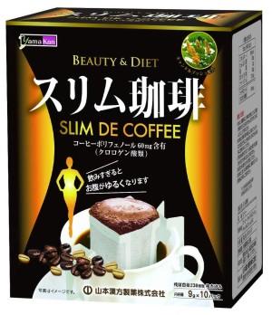 Кофе для снижения веса с экстрактом сенны Yamamoto Kanpo Slim Coffee