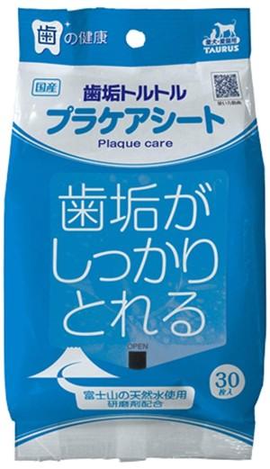 Влажные салфетки для ежедневного ухода за зубами собак и кошек TAURUS Tooth Plate Torutoru Service Sheet For Dogs & Cats