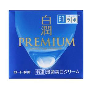 Отбеливающий крем Rohto Hada Labo Shirojyun Premium Whitening Medicated Cream