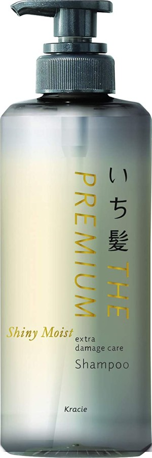 Восстанавливающий, увлажняющий шампунь Kracie Ichikami THE PREMIUM Shiny Moist Extra Damage Care Shampoo