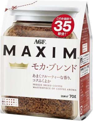 Натуральный растворимый кофе в гранулах AGF Maxim Moka Blend