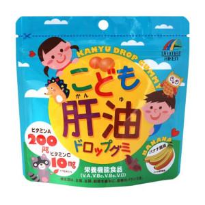 Детский витаминный комплекс с рыбьим жиром Unimat Riken Kanyu Drop Gummy со вкусом банана