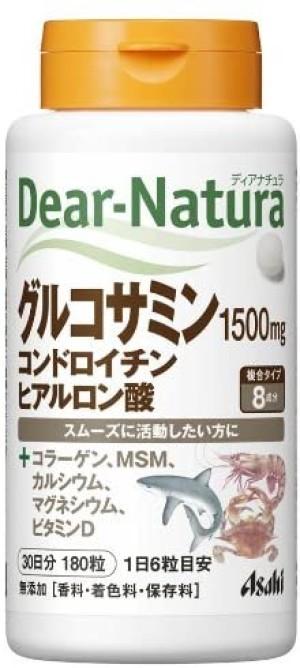 Комплекс для укрепления опорно-двигательного аппарата Asahi Dear-Natura Glucosamine + Chondroitin + Hyaluronic Acid