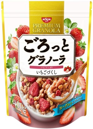 Гранола с клубникой Nissin Cisco Gourmet Granola Strawberry