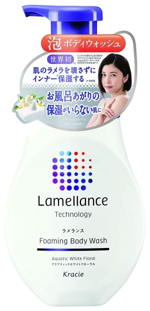 Увлажняющая пена для душа Kracie Lamellance Foam Body Wash Aquatic White Floral