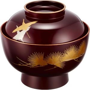 Лакированная чаша с крышкой Maejyu Lacquerware Daimyo Zoni Bowl