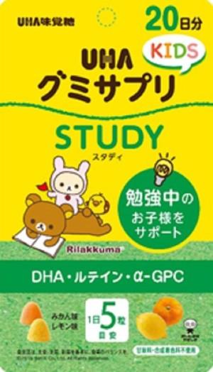 Витаминный комплекс для мозговой активности UHA Gummy Supplicant Kids Study DHA · Lutein · α-GPC