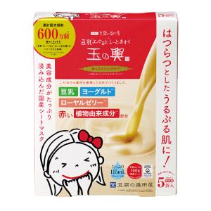 Омолаживающая тканевая маска с соевым молоком Tofu Moritaya Soy Milk Yogurt And Mask Red Aging Care